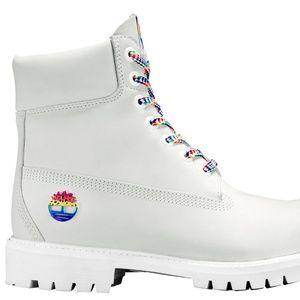 """Timberland Shoes - MEN'S TIMBERLAND 6"""" WHITE RAINBOW"""